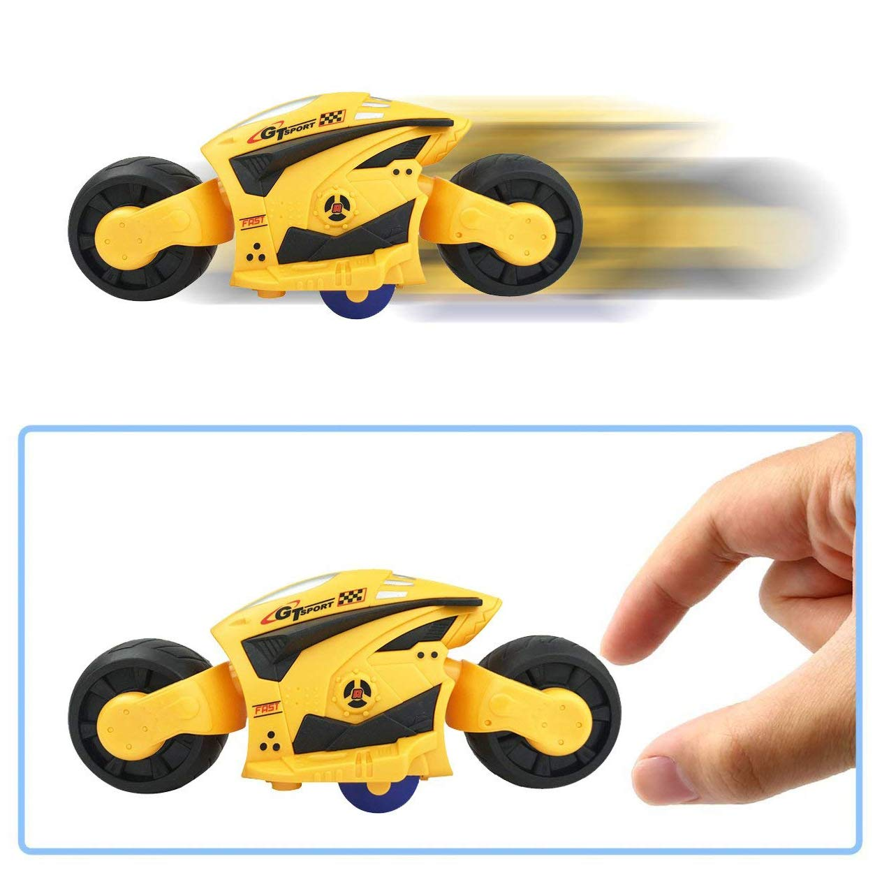4 Pack High Speed Friction Futuristic Concept Motorcycle Toys for Kids Racing Motorbike Vehicles Party Favors