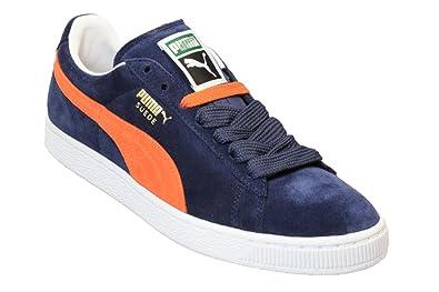 Puma Orange Lacets Hommes Classic Blanc Blue Indigo Suede À Baskets rqRpOw1r