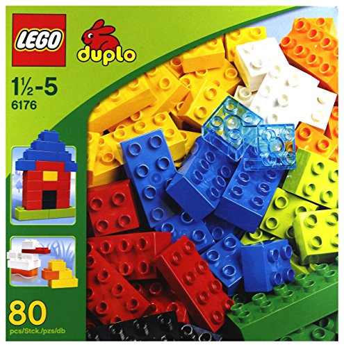 Basic Duplo Bricks Lego - LEGO 6176 Duplo Basic Bricks Deluxe (80 Pcs.)