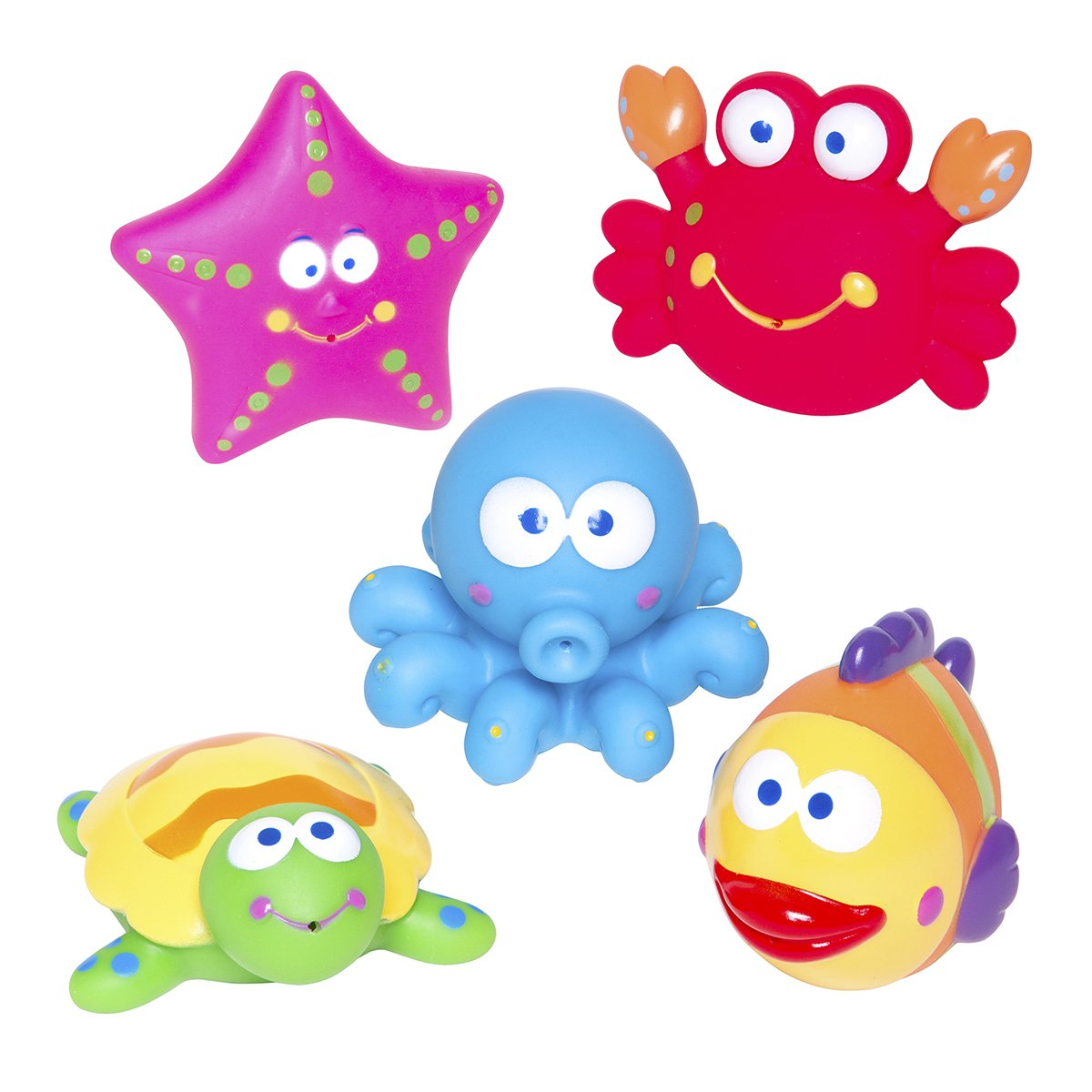 Amazon.com : Elegant Baby Bath Time Fun Rubber Water Squirtie Toys ...