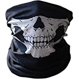 "Skull Faces Chrome Fire Biker Bandana measures 21""x21"" Quality Doo Rag BAN-0035"