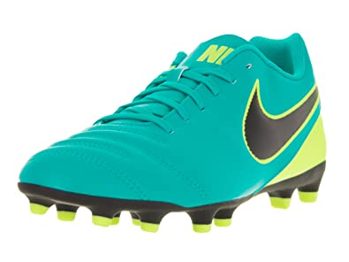 timeless design 094f5 47db8 Nike Herren Tiempo Rio III FG Fußballschuhe, Grün (Clear Jade/Black-Volt