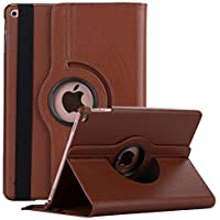Robustrion Smart 360 Degree Rotating Stand Case Cover for iPad 10.2 inch 7th Generation 2019 - Brown