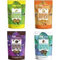 Barnana Organic Chewy Banana Bites - Variety Pack - 3.5 Ounce, 4 Pack Bites - Healthy Vegetarian Banana Fruit Snacks…