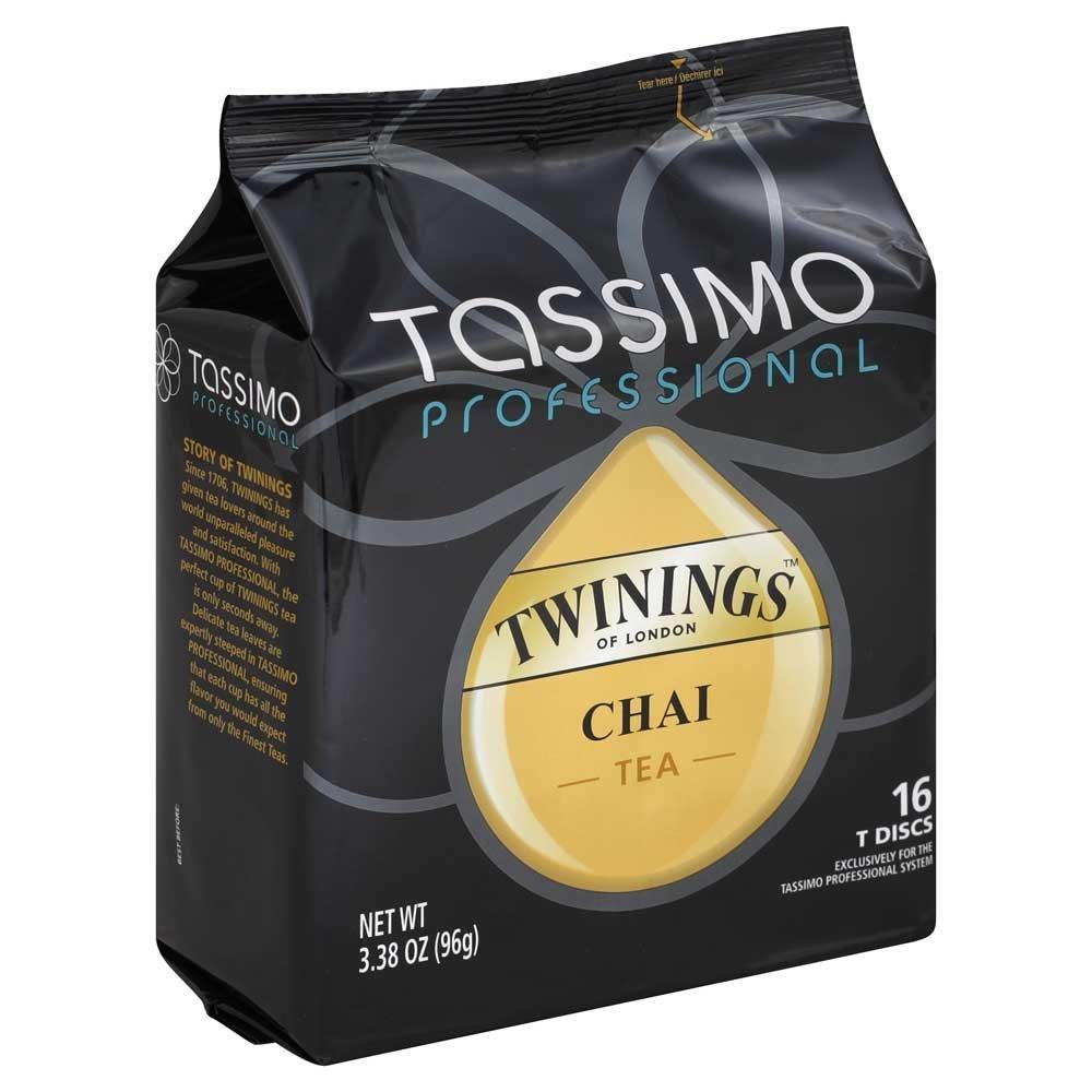 Tassimo Professional Machine Use Only Twinings T Disc Capsule Chai Tea, 3.38 Ounce - 5 per case.
