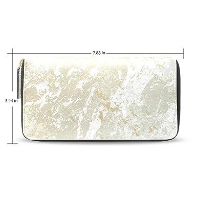Amazon.com: Monedero con cremallera, diseño de mármol ...