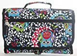 Artisan Owl Hanging Toiletry Bag-Travel Organizer Cosmetic Make up Bag case for Women Men Kit with Hanging Hook for Vacation, Travel (Owl)