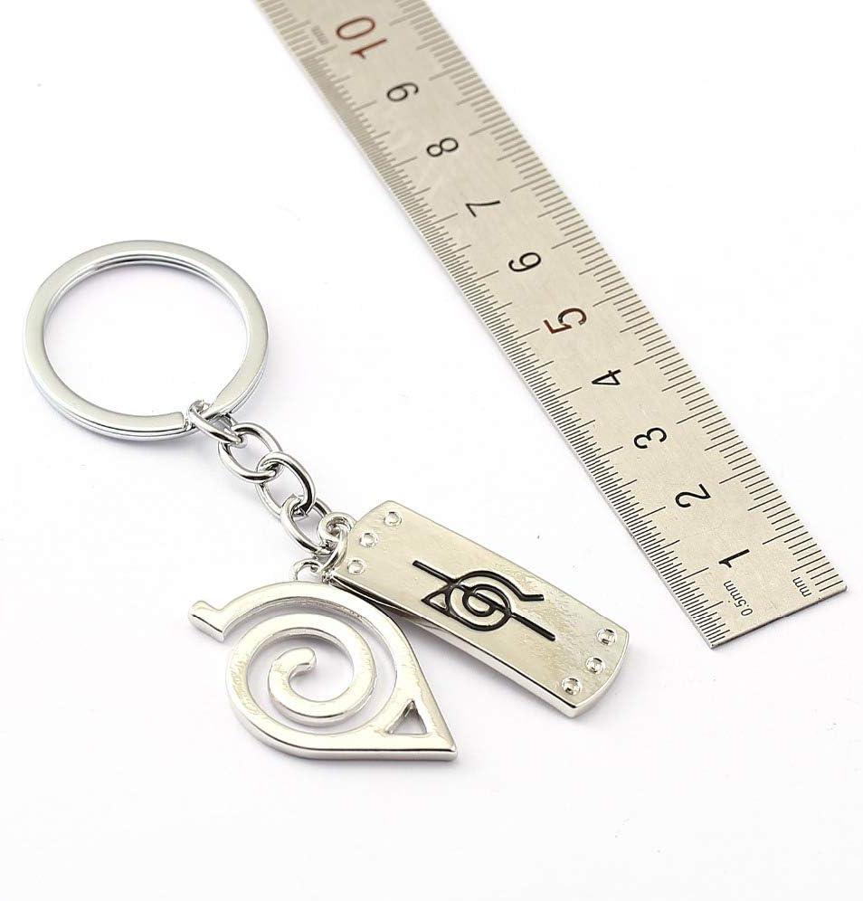 MINTUAN Porte Cl/és Naruto Porte-Cl/és Bandeau Shuriken Porte-Anneaux Porte-Cadeau pour Cadeau Chaveiro Voiture Porte-Cl/és Anime Bijoux Souvenir