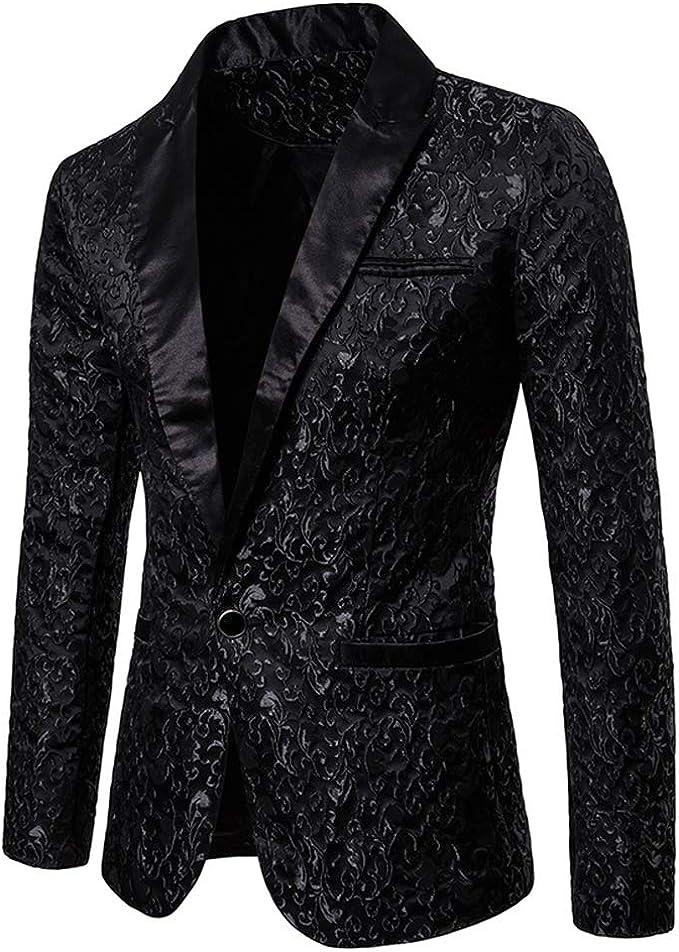 Amazon.com: Vestido de fiesta floral para hombre elegante ...