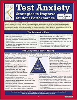 Book Test Anxiety: Strategies to Improve Student Performance by Joseph Casbarro (2016-01-05)
