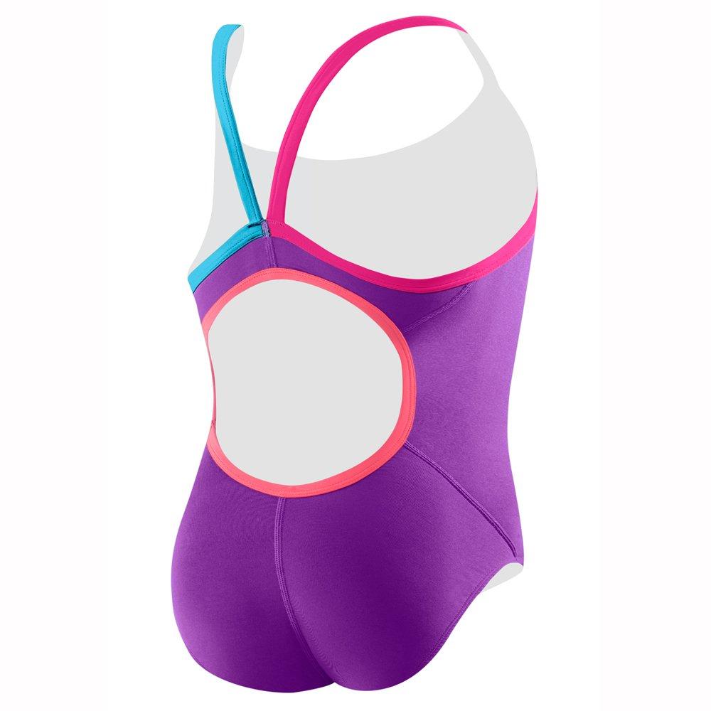 Pink 38 Speedo Men/'s and Women/'s Swimwear 7719620 Speedo Womens Flip Turns Solid Propel Back Pro Lt One Piece Swimsuit