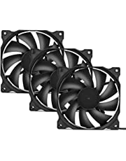 upHere 120mm Silent Fan for Computer Cases, CPU Coolers, and Radiators Ultra Quiet High Airflow Computer Case Fan, 3- Pack