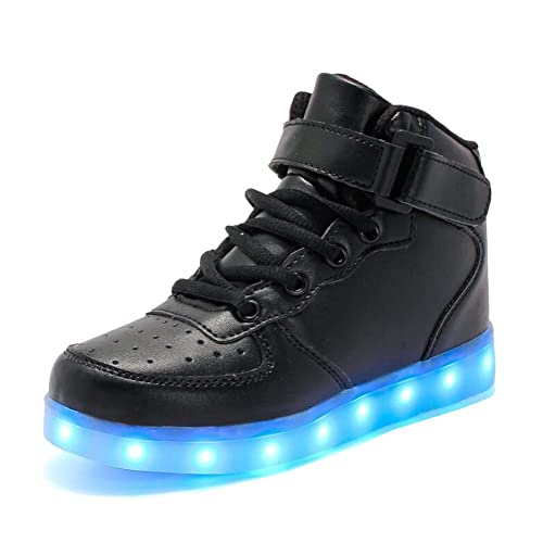 878bc764d475 Rojeam Kids Lights Shoes Boy and Girl High Top LED Energy Lights Sneakers   Amazon.co.uk  Shoes   Bags