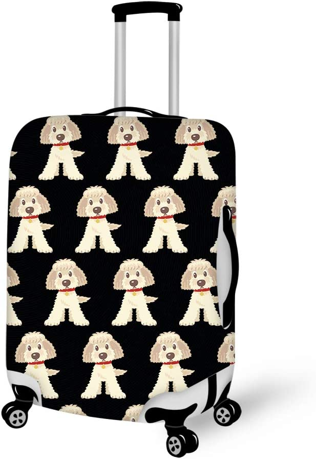 Goldendoodle Dogs Travel Luggage Cover Suitcase Protector Fits 22-24 inch Luggage