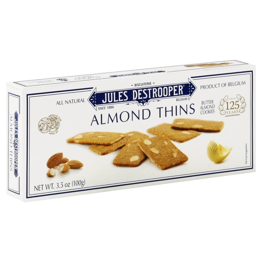 Jules Destrooper Cookie Thin Almond (Pack of 4)