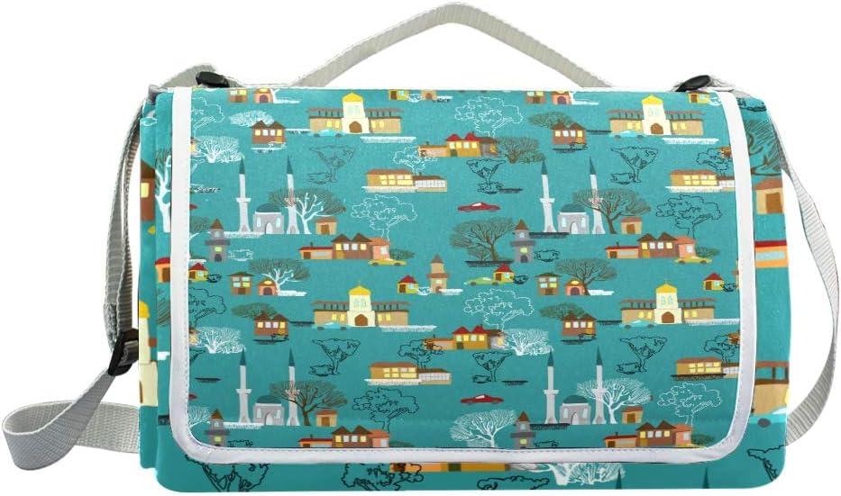 XINGAKA Coperta da Picnic Tappetino Campeggio,Cammelli in Cappello Rastaman,Giardino Spiaggia Impermeabile Anti Sabbia 3