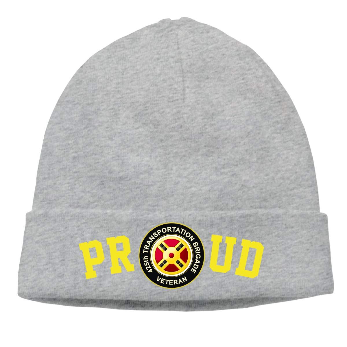FORDSAN CP Proud US Army 425th Transportation Brigade Veteran Mens Beanie Cap Skull Cap Winter Warm Knitting Hats.