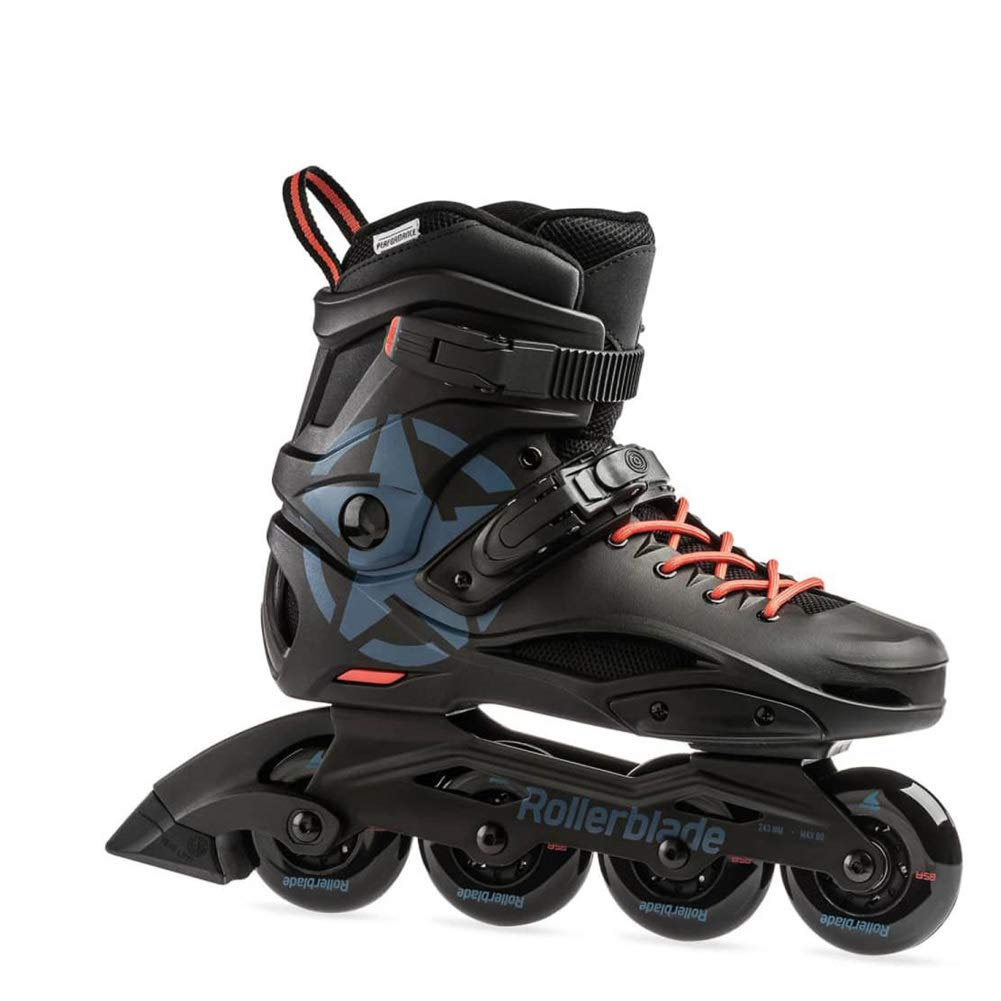 Rollerblade Cruiser Adult Fitness Inline Skate, Black/Grey Blue, Size 6