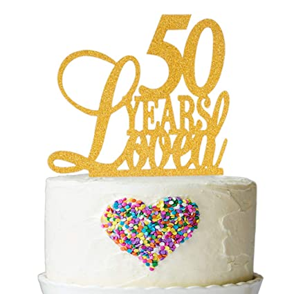 Amazon 50 Years Loved Cake Topper