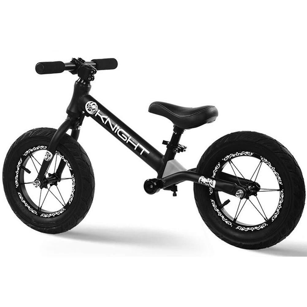 descuento de ventas DDTLP Bicicleta de Equilibrio Unisex, Unisex, Unisex, Cuadro de aleación de Aluminio, 12 No Pedal Walking Training Bicycle, para niños de 2 a 6 años y niños pequeños,negro  comprar descuentos