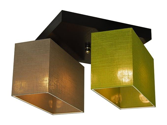 Plafoniere Per Tetto In Legno : Plafoniera illuminazione a soffitto in legno massiccio jls2267d