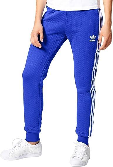 Adidas Originals Women S Bottoms Cuffed Track Pants Blue White X