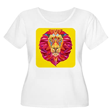 08dfa9b9e99 Royal Lion Women s Plus Scoop T-Shirt Geometric Lion King of The Jungle -  Plus