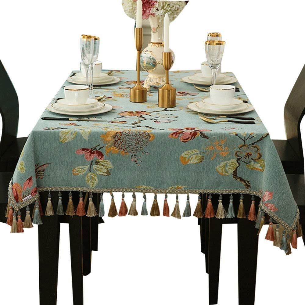 テーブルクロス - ヨーロッパの長方形の家庭用テーブルティーテーブルテーブルクロスハイエンドレストランカフェテーブルデコレーションクロス (サイズ さいず : 140x220cm) 140x220cm  B07RPFYTMD