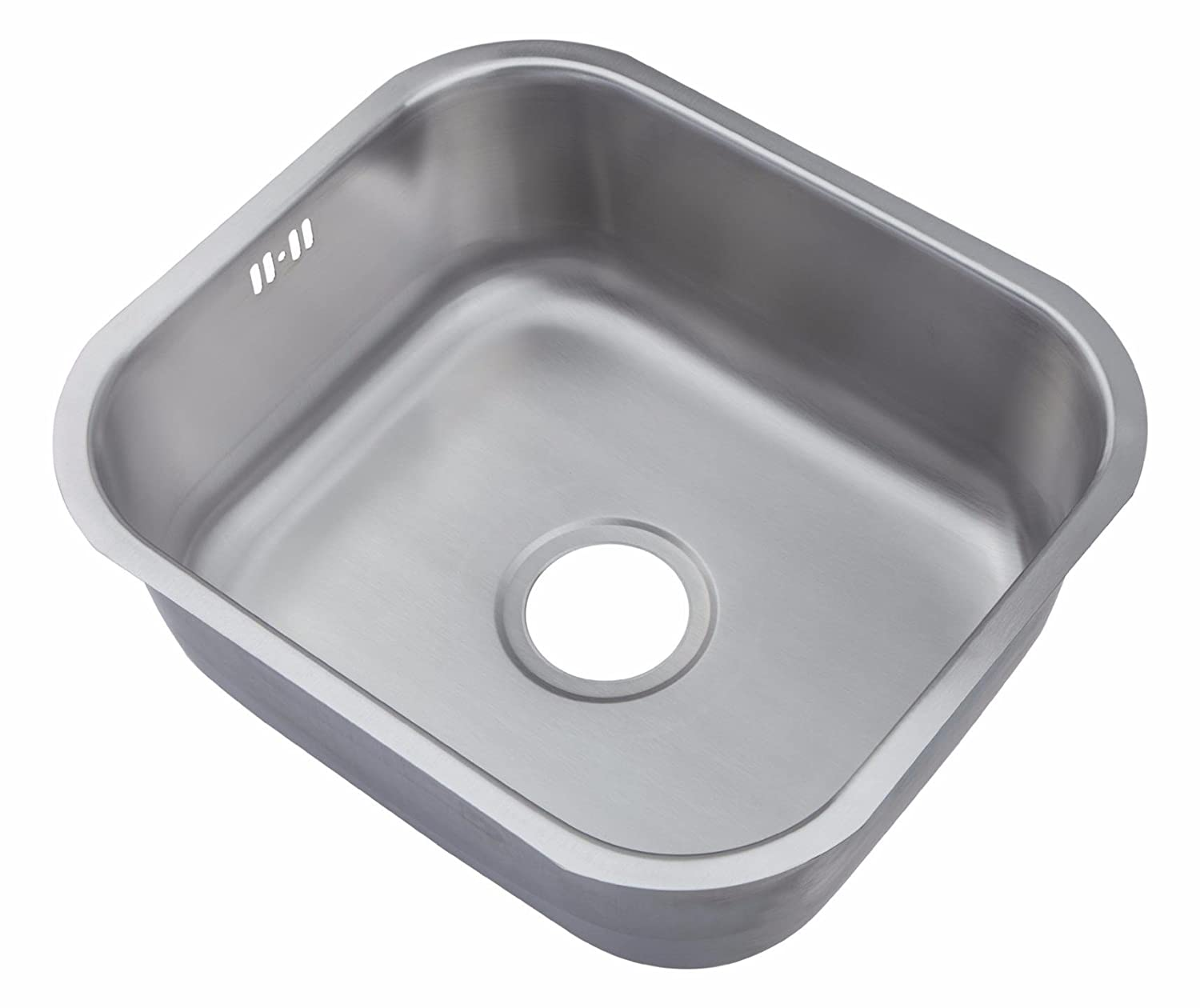Kitchen Sinks Brushed Steel Undermount Bowl 465 x 410 (A15 bs) Grand Taps