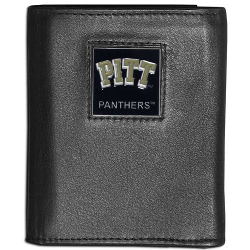 NCAA Pittsburgh Panthers Leather Tri-Fold Wallet - Panthers Square Pittsburgh