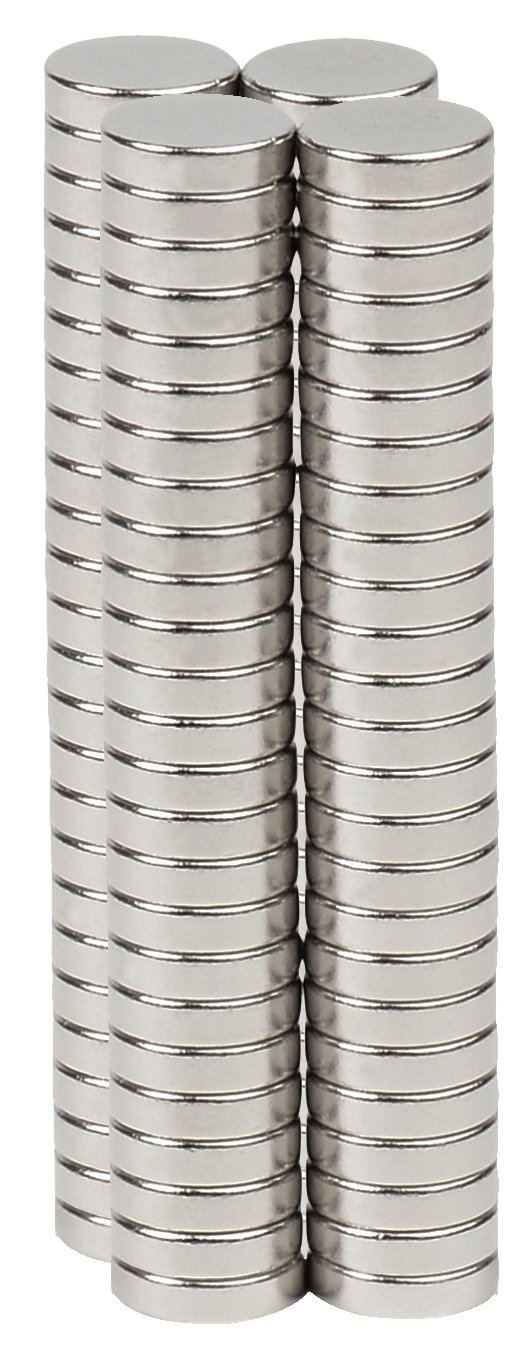 BYKES 80 Neodymium Super Strong Extremely Powerful Rare Earth Refrigerator Magnets 1//4 X 1//16 Discs