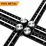 Ankace ll089 Multi Angle Measuring Ruler, Ankace Premium Aluminum Alloy Ultimate 836 Angleizer Template Tool/Layout Tool Measurement for Handymen, Builders, Craftsmen, DIY-ers, Black