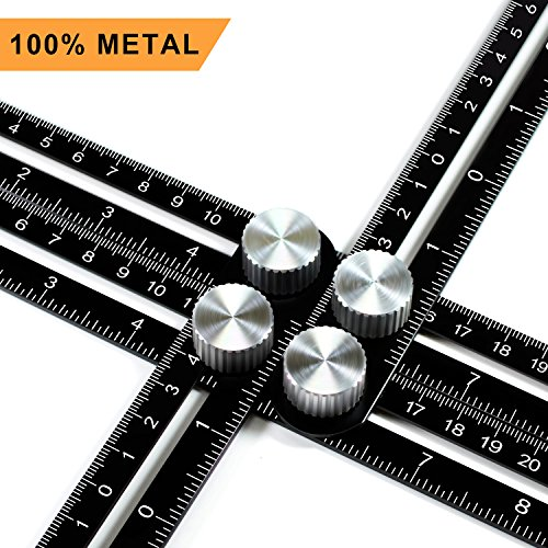 Multi Angle Measuring Ruler, Ankace Premium Aluminum Alloy Ultimate 836 Template Tool/Layout Tool Measurement for Handymen, Builders, Craftsmen, DIY-ers (Black)