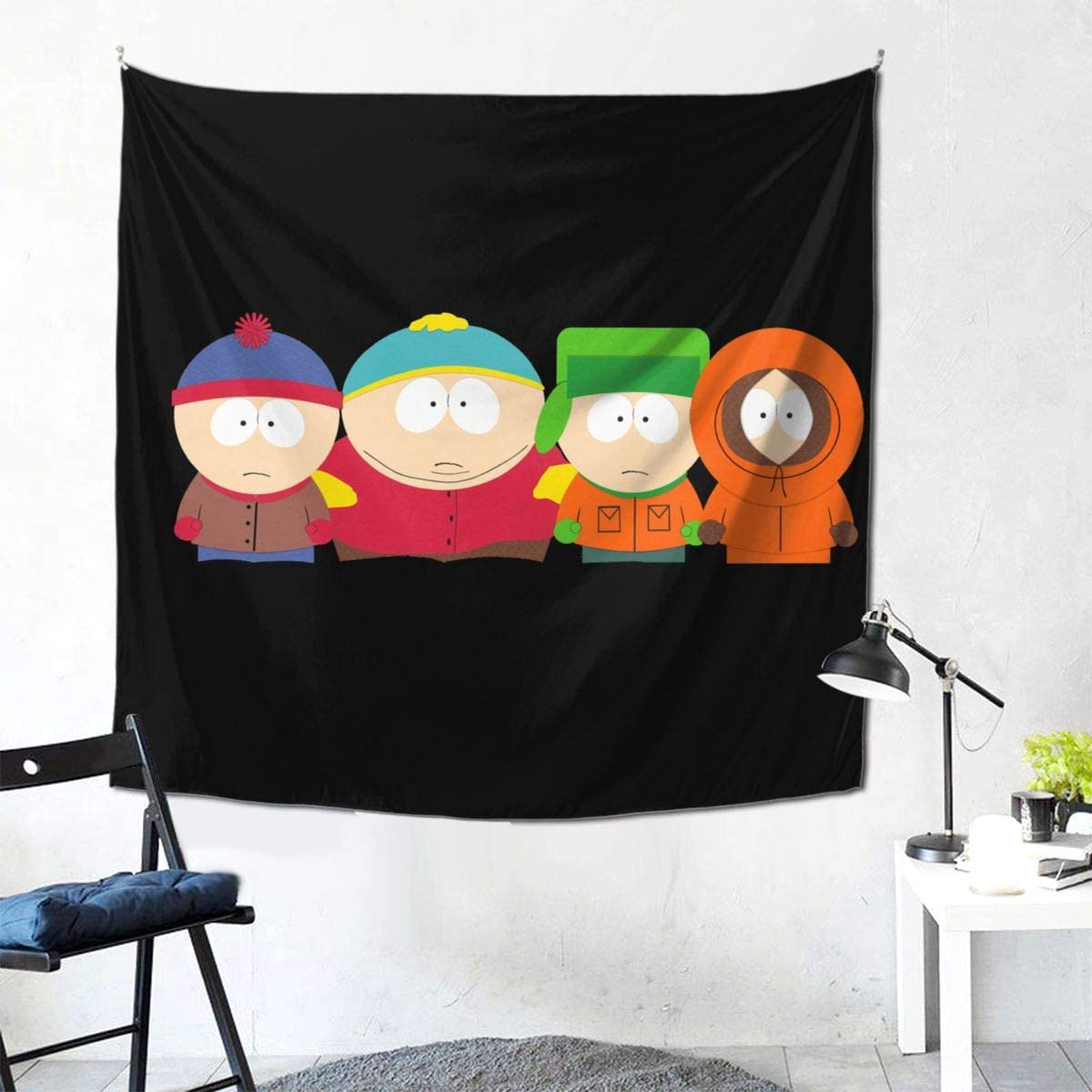 Shanion South Park Tapestry Wall Hanging Room,Tapestry Living Room Dormitory Decoration,Curtain Picnic Tapestry, 59×59 Inch