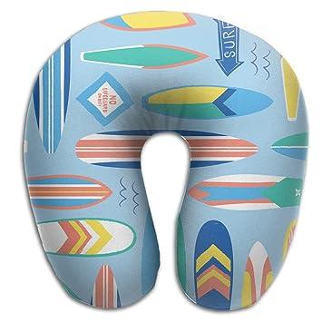 Amazon.com: Gkf U Shaped Pillow Neck Surf Board Blog Travel ...