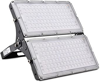 200W Focos LED Exterior, Sararoom Floodlight 180° Ultrafino ...