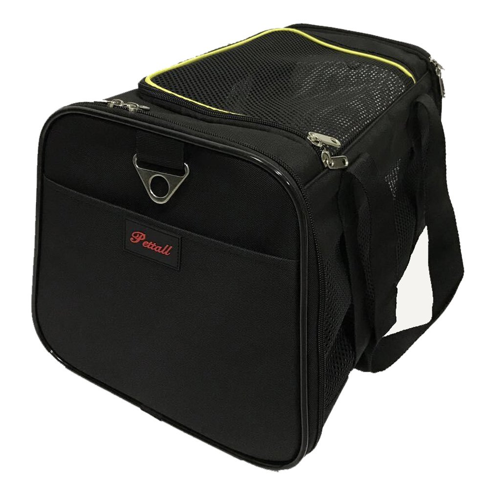 Pettall 17.5x11x10.5'' Pet Carrier for Small Cat Bag Dog Purse Airline-Approved Pet Carrier ( Only for Under-Seat Dimensions Up to 10.5'' )
