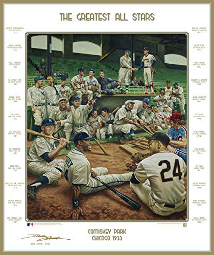 (Baseball's Greatest All-Stars Dream Scene Lithograph Photo - By Artist Jamie Cooper)
