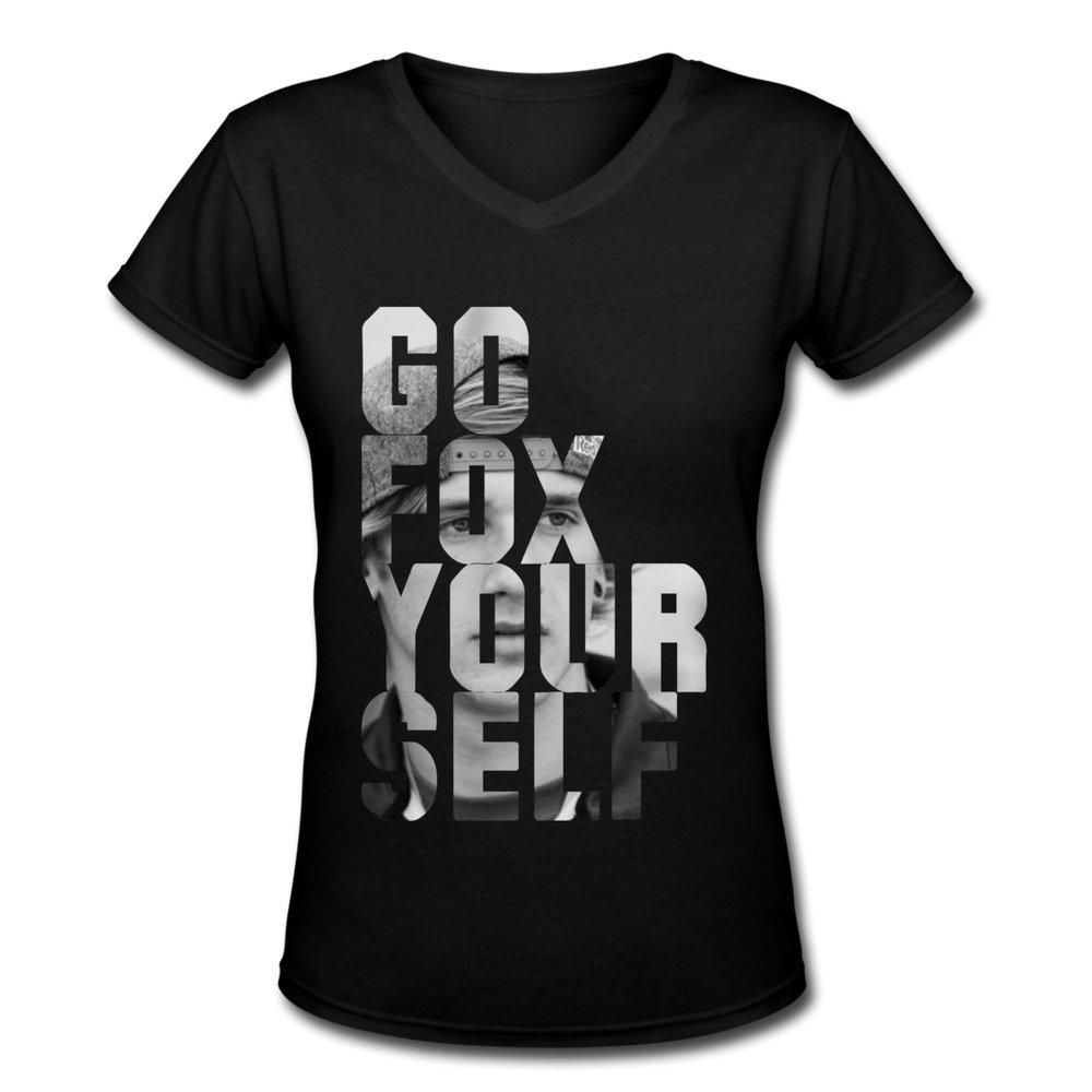 AOPO Go Fox Your Self Ken Roczen KTM V-Neck Short Sleeve Tee Shirts For