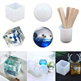 EuTengHao 18Pcs DIY Silicone Resin Casting Molds