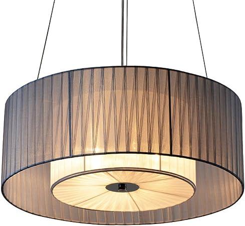 DESIGN hängende lampe wohnzimmer stoff pendelleuchte runde
