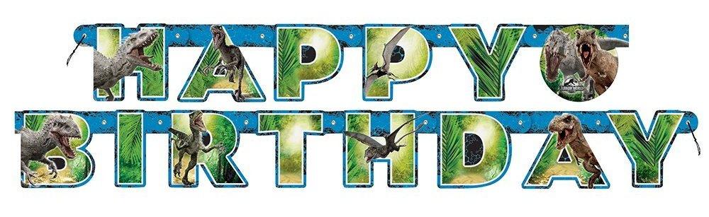 1 Happy Birthday Banner * Jurassic World * para fiestas de ...