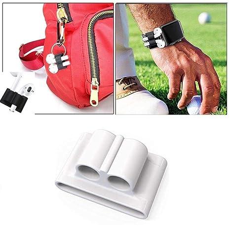 Teepao Auriculares de silicona con Bluetooth, correa de seguridad antipérdida, para Apple AirPods,