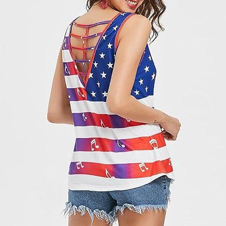 Camiseta sin mangas con diseño de bandera estadounidense de ...