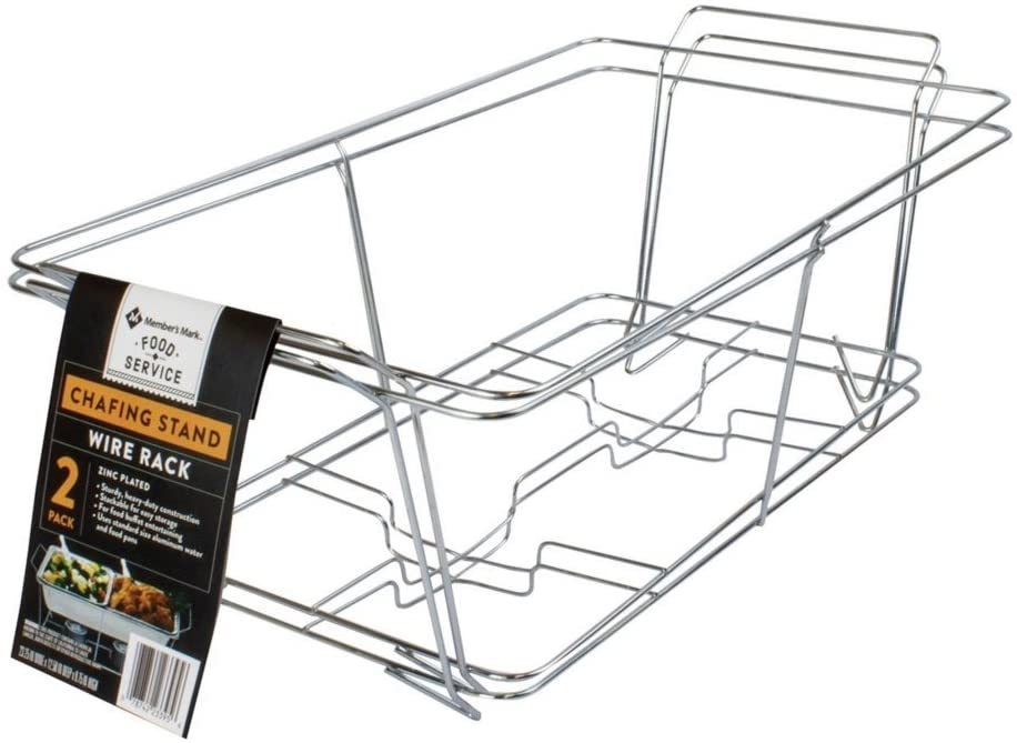 Mm'S Buffet Chafer, Food Warmer Rack, Chrome Wire Rack, Chafing Rack. Full Size Set of 4