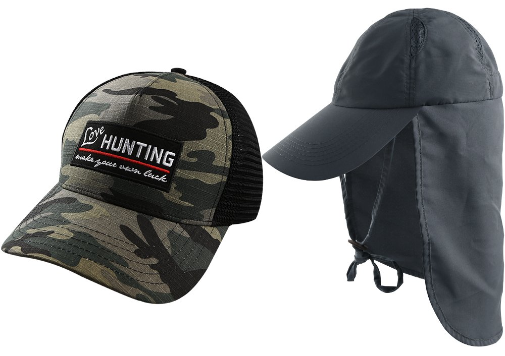 Amazon.com  AKASO 2 Pack Sun Hat Baseball Fishing Hunting UPF 50 UV ... df5258d2689