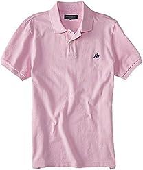 Aeropostale Mens Solid Uniform Logo Rugby Polo Shirt