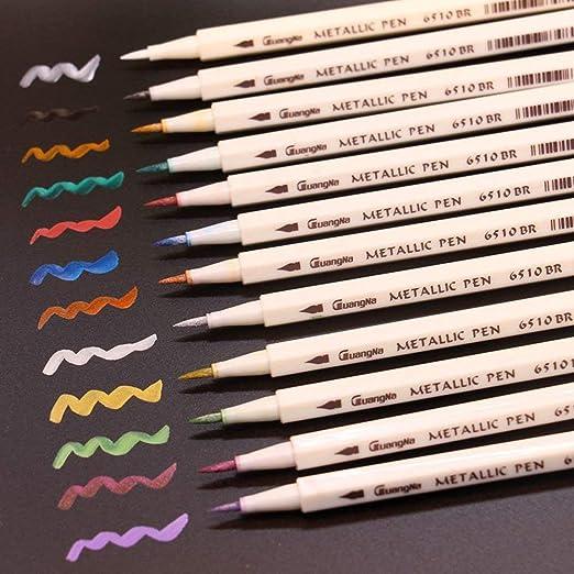 Acrylstifte Marker Stifte weiche Spitze Metallic Pinselstifte Set 20 Farben