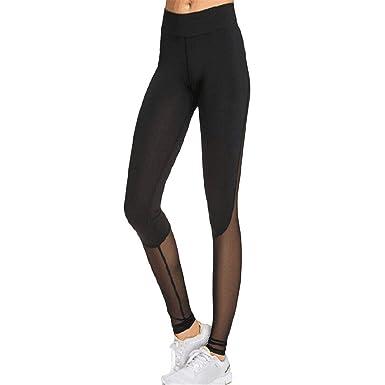 b9ac0f635388b1 Women's Mesh Panel Side High Waist Leggings Skinny Workout Running Tights S Yoga  Pants Legging