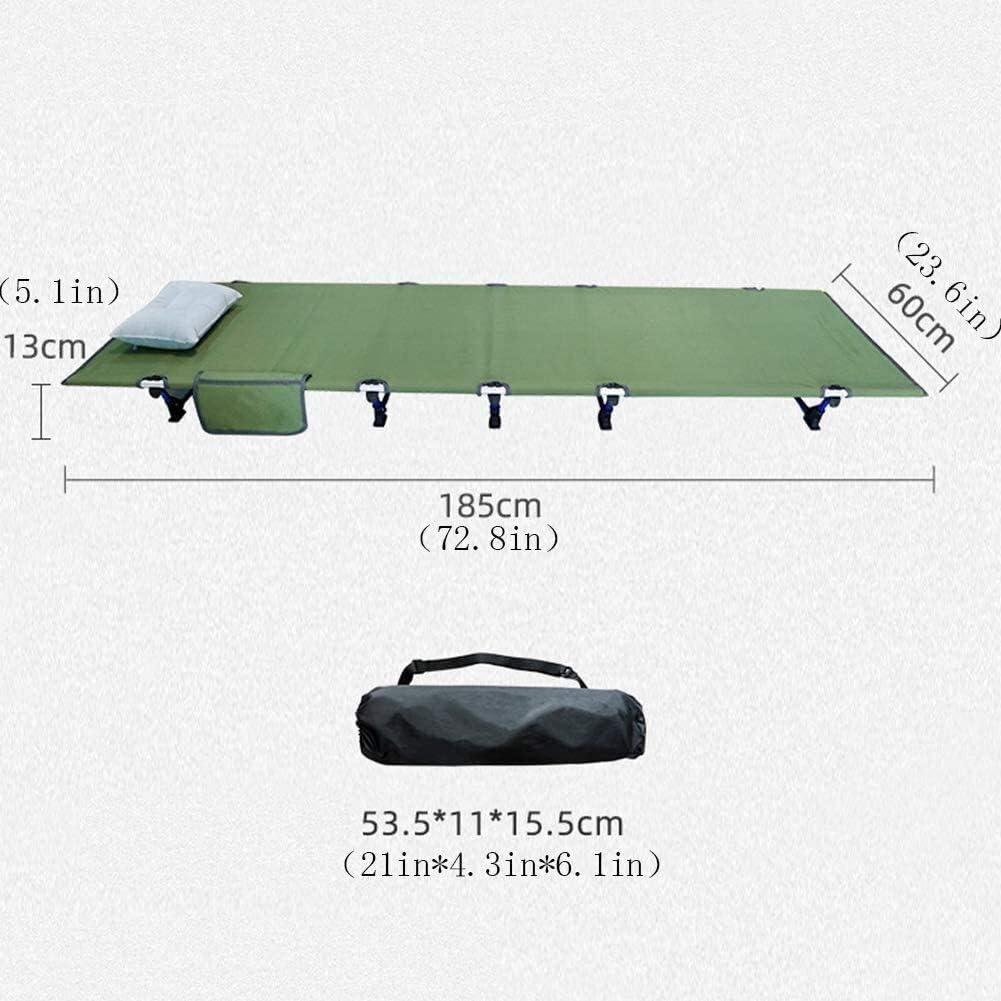 JNWEIYU Lit Pliant Camping, en Aluminium Robuste Cot Compact avec Oreiller et Sac de Rangement, Lit Pliant Escort Portable Ultraléger Camping lit for Camping (Color : G) H